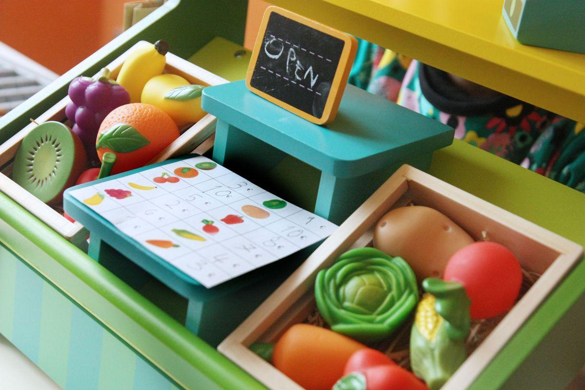 Mercado de juguete para niños