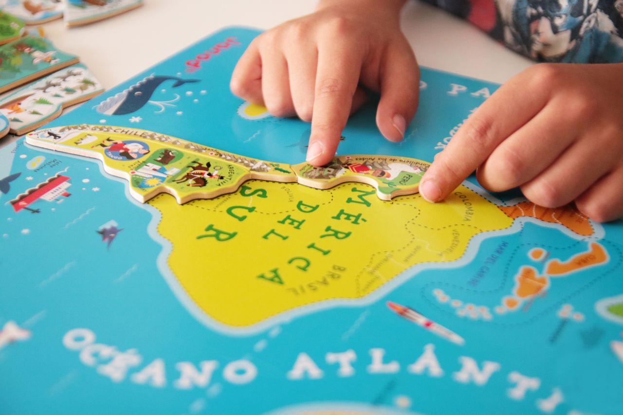 Sudamérica en el mapa puzle de Janod