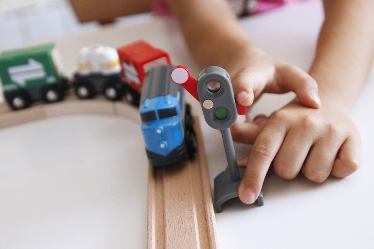 Semáforo para trenes infantiles