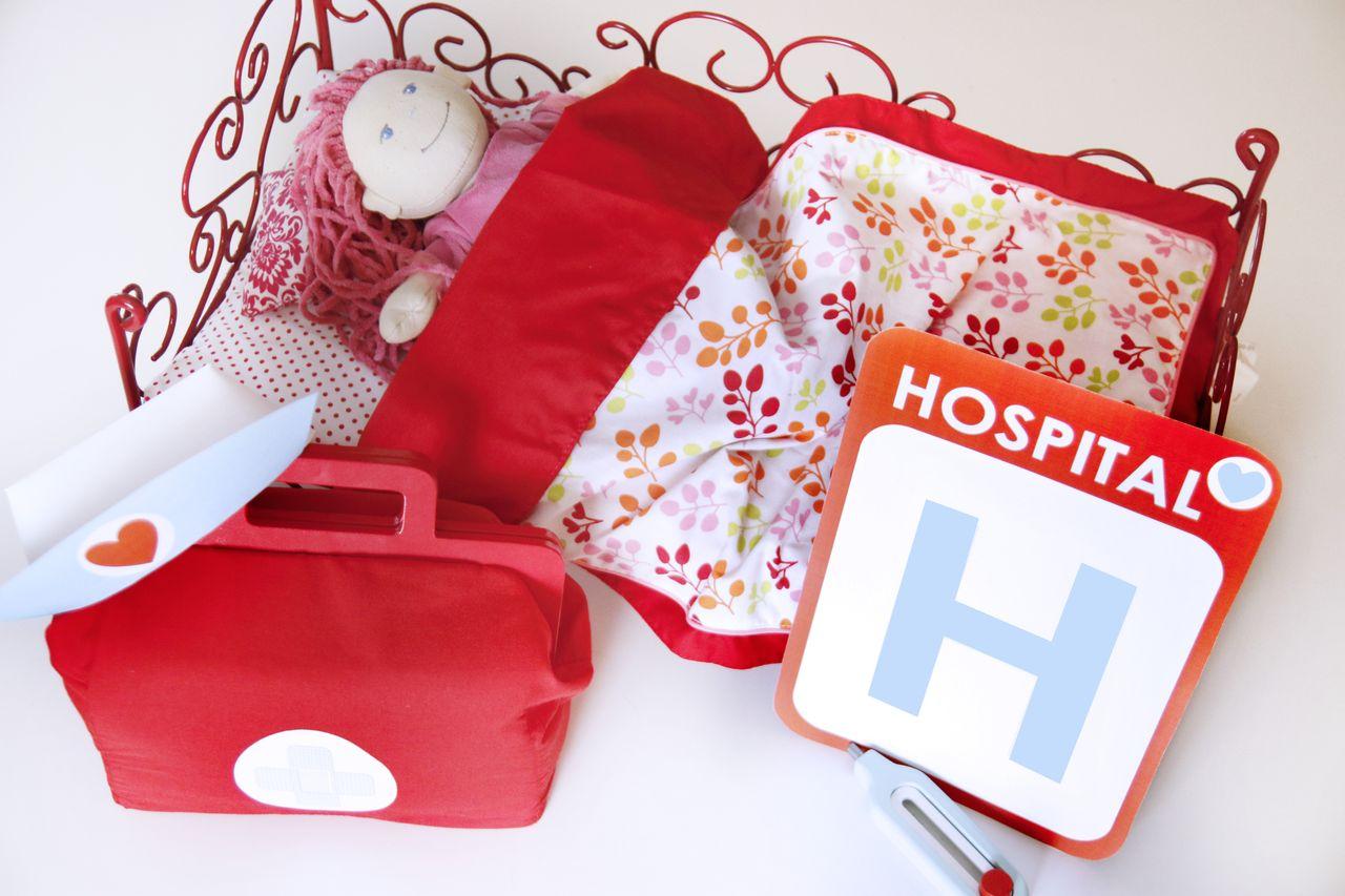 Hospital juguete niños médicos madera infantil