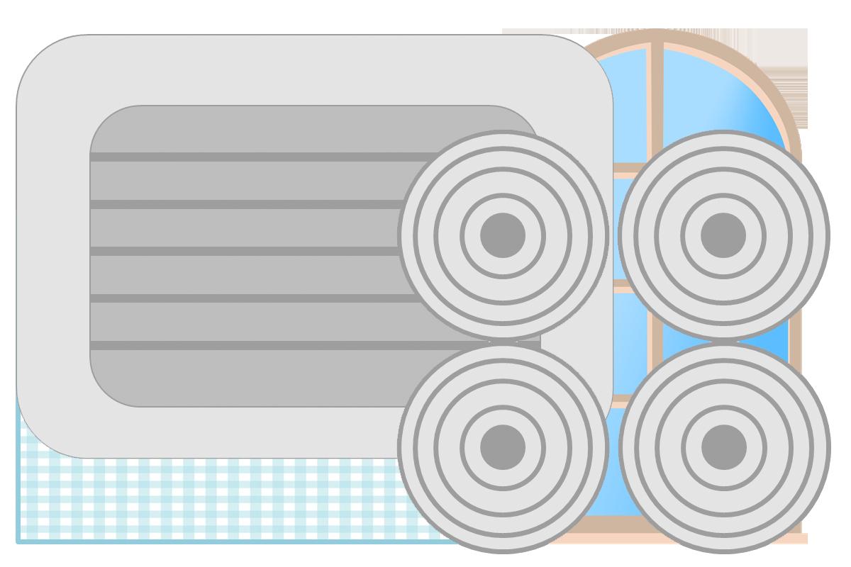 Pegatinas para hacer cocinita de cartón