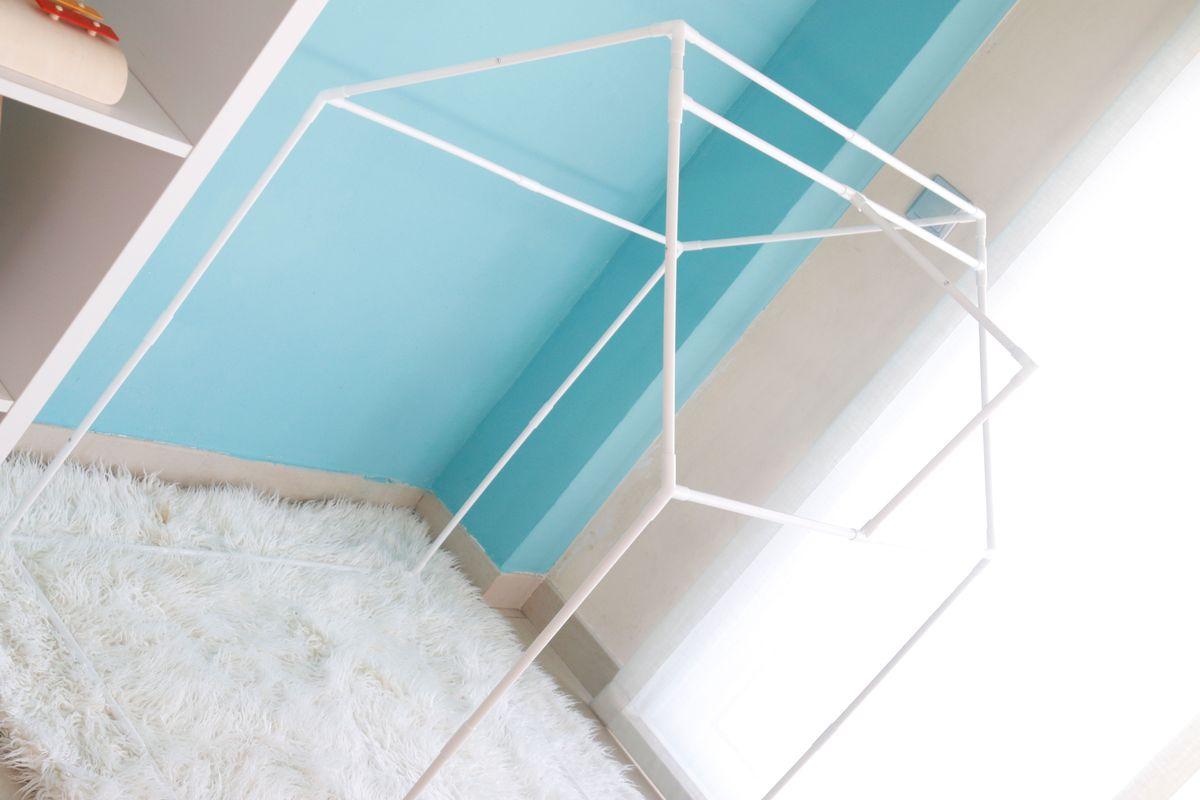 estructura casa de tela