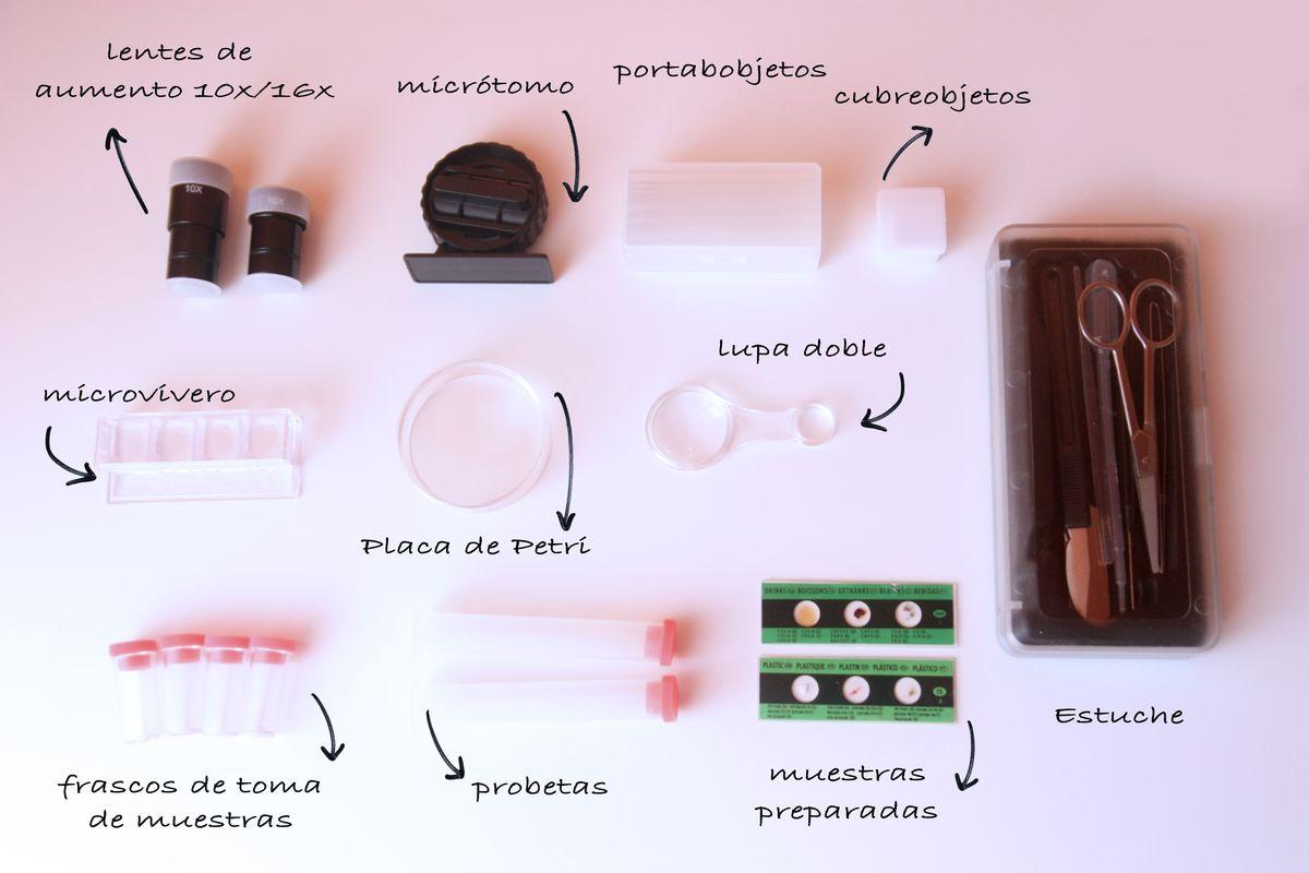 componentes del microscopio Miniland
