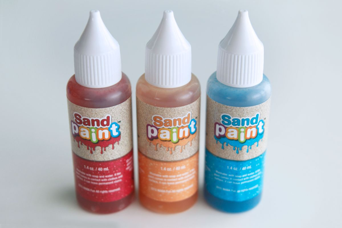pinturas con purpurina para arena cinética, sand paint, glitter