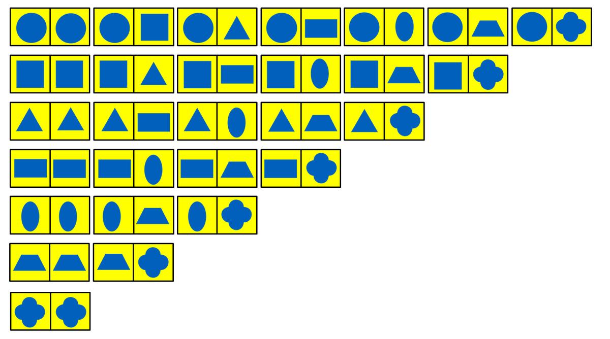 Esquema dominó figuras geométricas