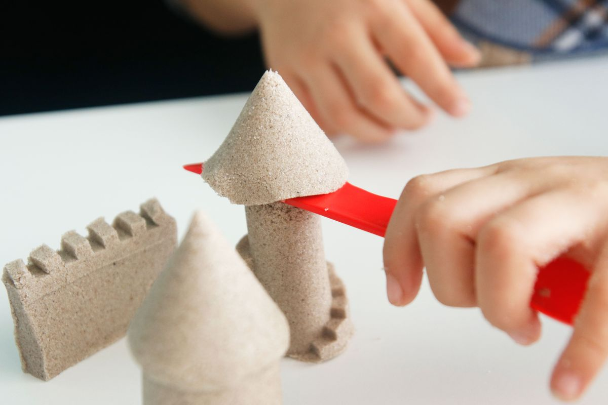 cuchara cuchillo para kinetic sand