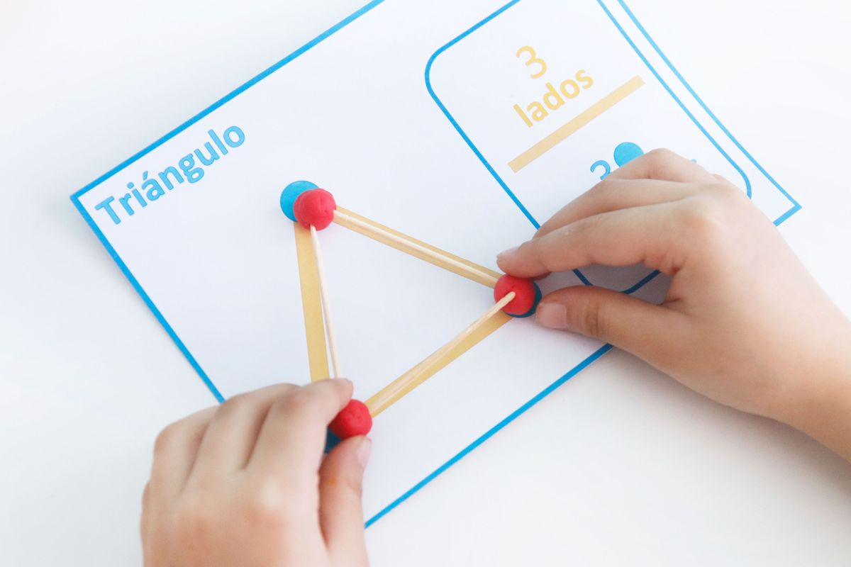 Aprendiendo Geometría Con Plastilina Y Palillos Imprimible Mumuchu