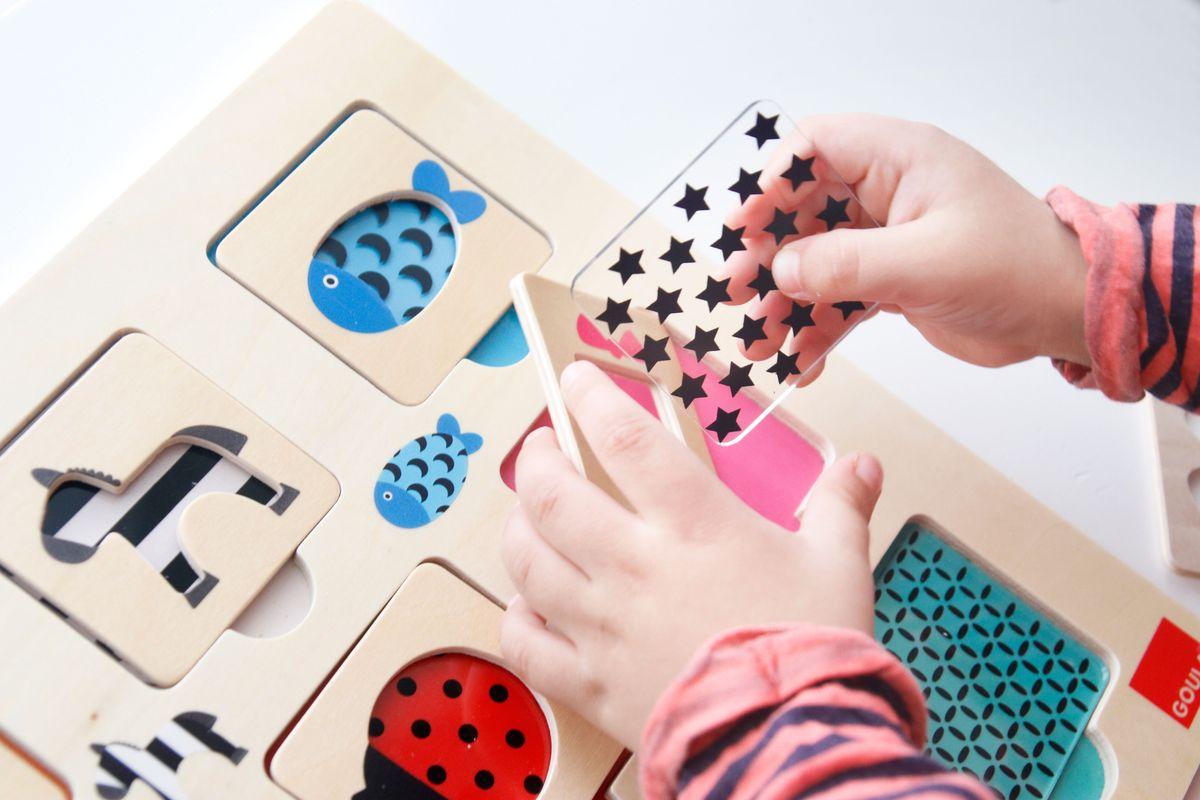 Pieza textura para el puzle de madera