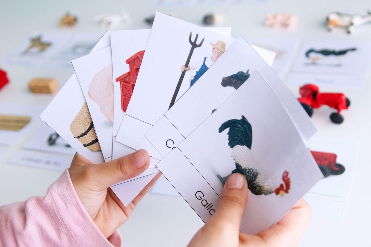 tarjetas-tres-partes-montessori-granja