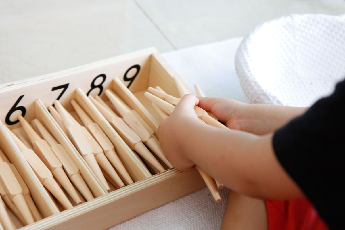 Caja Husos Montessori Mumuchu