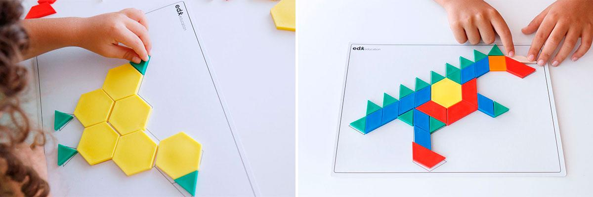 tarjetas-emparejar-dibujos-con-bloques-geometrico