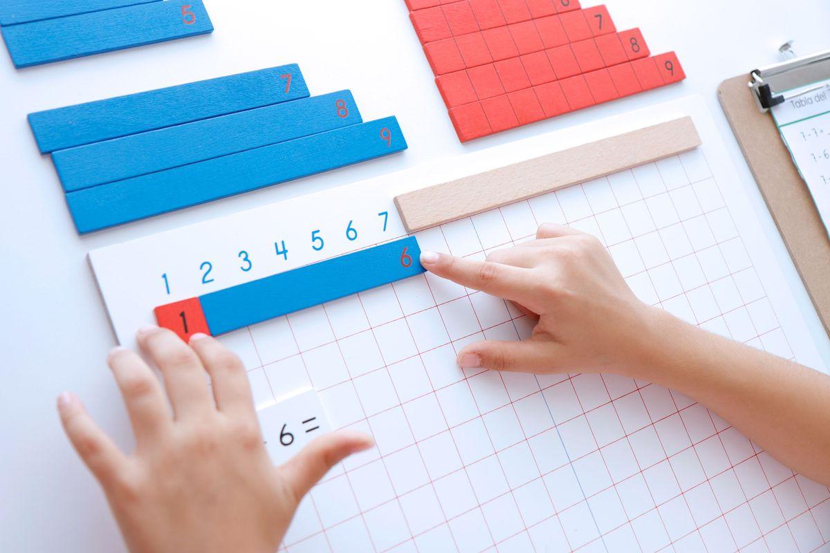 Tabla de la resta Montessori